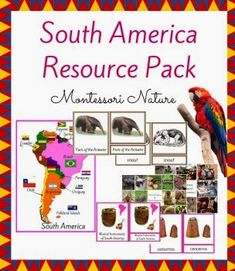South America - Free Educational Printables. Resources for the Montessori Classroom - Montessori Nature