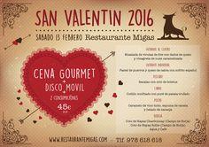 San Valentín 2016 en Restaurante Migas