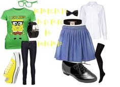 """dress like a nerd!!"" by becky-peace-for-life ❤ liked on Polyvore"