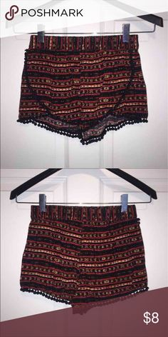 Loose fitted shorts Loose fitted shorts with bottom seam fringe Forever 21 Shorts