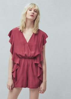 Ruffled jumpsuit | MANGO