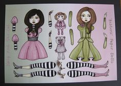 Sisters-Articulated Paper Doll-Do it yourself, via Etsy