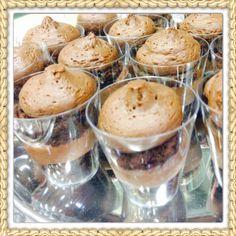 Dessert table tres Leches shots chocolate cake shots Dessert shots