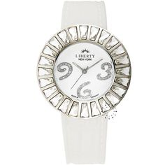 LIBERTY New York Crystal Ladies White Rubber Strap Τιμή: 145€ Τιμή Προσφοράς: 58€ http://www.oroloi.gr/product_info.php?products_id=27719