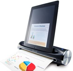 iScamil, by Kingjim.  Scans documents and instantly store the scan image into iPad.  like it.