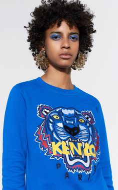 Tiger Sweatshirt, ROYAL BLUE, KENZO