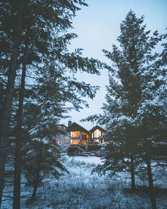 Home for the winter.  Bigfork Montana by alexstrohl
