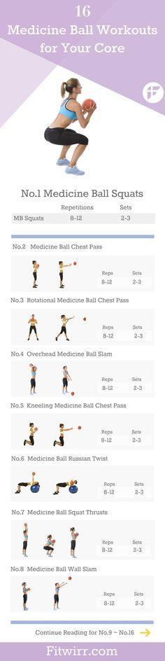 16 medicine ball exercises to try. #medicineball #flexibility #exercise