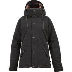 burton-womens-eden-down-snow-jacket-charcoal-heather