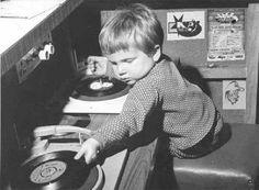 Tiny tot disc jockey...