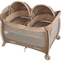 Graco Pack 'n Play Playard with Twins Bassinet | Portable and Space Saving Cribs | BabyZone but with custom covering