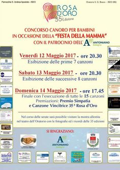 Concorso Canoro Rosa D'Oro a Iseo  http://www.panesalamina.com/2017/55519-concorso-canoro-rosa-doro-a-iseo.html