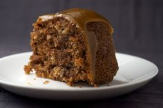 Apple Spice Cake is a delicious blend of fresh apples and spices topped with a rich caramel glaze.