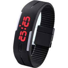 Sky Mart New Arrival Special Collection Black Color Unisex Silicone Digital LED Band Wrist Watch for Boys, Girls, Men, Women Boys Watches, Sport Watches, Women's Watches, Digital Wrist Watch, Led Watch, Cow Skin, Silicone Bracelets, Red Led, Silicone Rubber