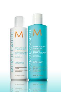 Morrocanoil Extra Volume Shampoo and Conditioner reviews.  Click thru for review