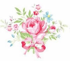 GreenGate ~ Pin without fear of being blocked. Have fun! Decoupage Printables, Floral Printables, Flower Patterns, Print Patterns, Floral Motif, Floral Prints, Shabby, Pip Studio, Decoupage Paper