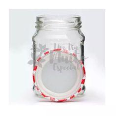 10 potes vidro com tampa xadrez vermelha 220 ml bolo pote