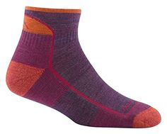 Darn Tough Hike/Trek Cushion Quarter Socks - Women's Plum Heather Small ** See this great product.
