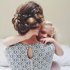 Beautiful hair on both mum and daughter.
