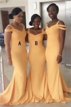 Prom Dresses Simple, Bridesmaid Dresses Yellow, Bridesmaid Dresses For Cheap, Prom Dresses Mermaid Bridesmaid Dresses 2018 Mermaid Bridesmaid Dresses, Elegant Bridesmaid Dresses, Mermaid Evening Dresses, Sexy Dresses, Prom Dresses, Yellow Bridesmaids, Bridesmaid Outfit, Dresses Uk, Dresses Online