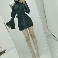 Korea Fashion, Kpop Fashion, Cute Fashion, Asian Fashion, Girl Fashion, Fashion Dresses, Fashion Design, Nice Dresses, Short Dresses