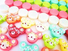 colorful bear macarons