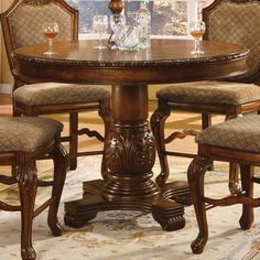 Acme Furniture Chateau De Ville Round Counter Height Pedestal Dining Table - ACM940-2