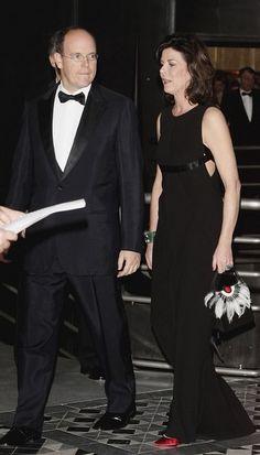 Princess Caroline Princess Caroline of Hanover and Prince Albert II of Monaco arrive at the Monte Carlo Rose Ball 2006