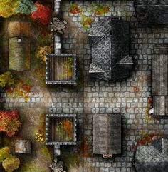 D&D maps I've saved over the years: towns/cities Dungeon Tiles, Dungeon Maps, Dungeons And Dragons Homebrew, D&d Dungeons And Dragons, Fantasy City Map, Fantasy World, Rpg Map, Dungeon Master's Guide, Map Maker