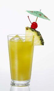 ❦ Crazy Cuban. Recipe:  ◦1 oz. Cruzan Light Rum  ◦.5 oz. Cruzan Dark Rum  ◦1 oz. coconut rum  ◦.5 oz 99 Bananas  ◦3 oz. pineapple juice  Mix all ingredients over ice in a hurricane glass. Garnish with a pineapple, cherry and parasol.