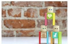 Great little gift for kids: Tegu's new MyBlockhead sets are adorable, magnetic, custom block sets made from high-quality sustainable wood in your choice of cute colors and icons.