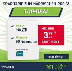 1GB LTE o2 Smart Surf für 3,99€ + 10€ Amazon Gutschein
