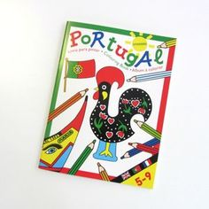 Livro para colorir Portugal Stickers, Portugal, Singing, Playing Cards, Counting, Good Things, Book, Products, Sticker