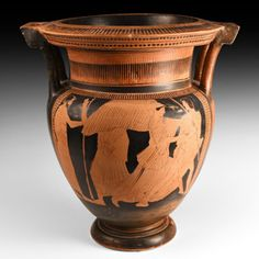 Large Greek Attic Red-Figure Column Krater with Myth of Kephalos Attributed to the Boreas Painter Labors Of Hercules, Greek Pottery, Phoenician, Ancient Art, Attic, Egyptian, Auction, Vase, Antiques