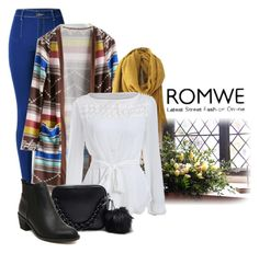 """ROMWE CONTEST: Frayed Yellow Scarf"" by teez-biz-nez ❤ liked on Polyvore featuring women's clothing, women's fashion, women, female, woman, misses and juniors"