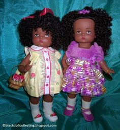 Black Doll Collecting: Buttercup Trixie and Predecessors Black Baby Dolls, Wide Face, Effanbee Dolls, Christmas Gift Box, Body Sculpting, Yellow Lace, New Dolls, Paper Tags, Buttercup