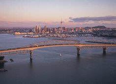 Auckland Harbour Bridge with City CBD in distance