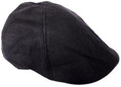 Men's Linen Newsboy Ivy Cap Hat Black