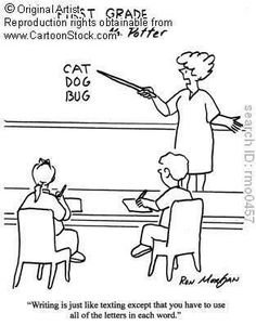 English Teacher funny cartoons from CartoonStock directory - the world's largest on-line collection of cartoons and comics. Teaching Humor, Teaching Quotes, Teaching Phonics, School Humor, School Fun, School Days, School Stuff, Teacher Comics, Teacher Funnies