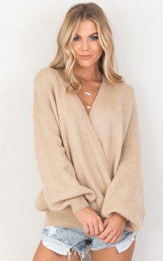 showpo, showpo knit, beige knit, beige, knit