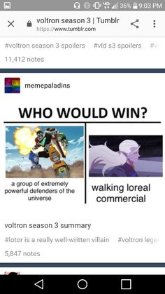LOTOR CANNOT WIN. WHY IS HE SO SMART!?<<< because he is such a super fan.