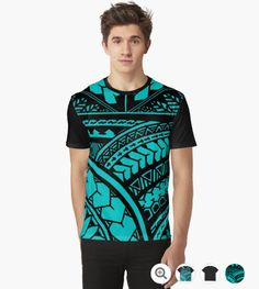 Samoan tongan hawaiian tatau design polynesian style for Hawaiian graphic t shirts