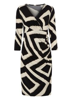 Matalan - Square Print 'Ava' Dress  For work