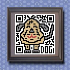 590 Dog Asian zodiac animal as QR code Whimsical by TwoBananasArt, $20.00