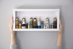 Peg Doll Family Portraits #personalizedgifts #customgifts #h