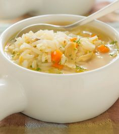 Ooooo... This sounds PERFECT for dinner at home this weekend... Chicken and rice soup