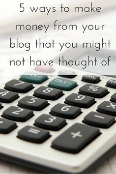 5 ways to make money from your blog that you might not have thought of. Click…