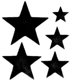 Inch Star Pattern Use The Printable Outline For Crafts