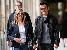 """Many Parisians were cursing the rain on Sunday, but Jennifer Aniston & Justin Theroux were far from gloomy as they brought their romance to the City of Light.   Aniston, 43, and Theroux, 40,  popped out to Rue St. Honoré for a quick shopping trip at the boutique Colette. Next up: a stop by the Palais-Royal, where they were spotted holding hands.  The actor-writer and the actress have been dating for over a year, and Aniston recently rated her happiness level at a """"10-plus."""""""