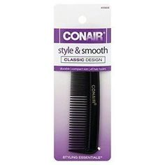 Conair Pocket Comb, Style &Amp;Amp; Smooth, All Hair Types 1 Comb